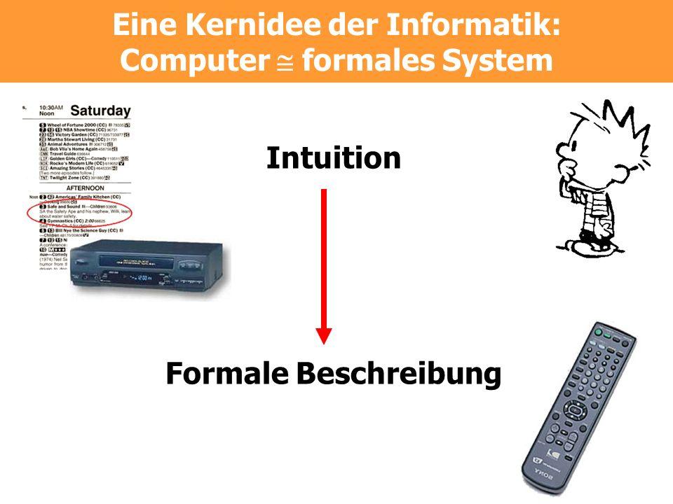 Eine Kernidee der Informatik: Computer  formales System