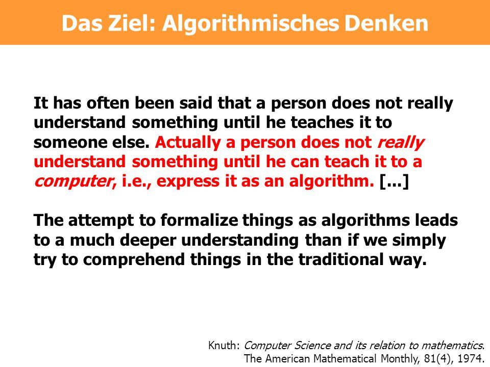 Das Ziel: Algorithmisches Denken