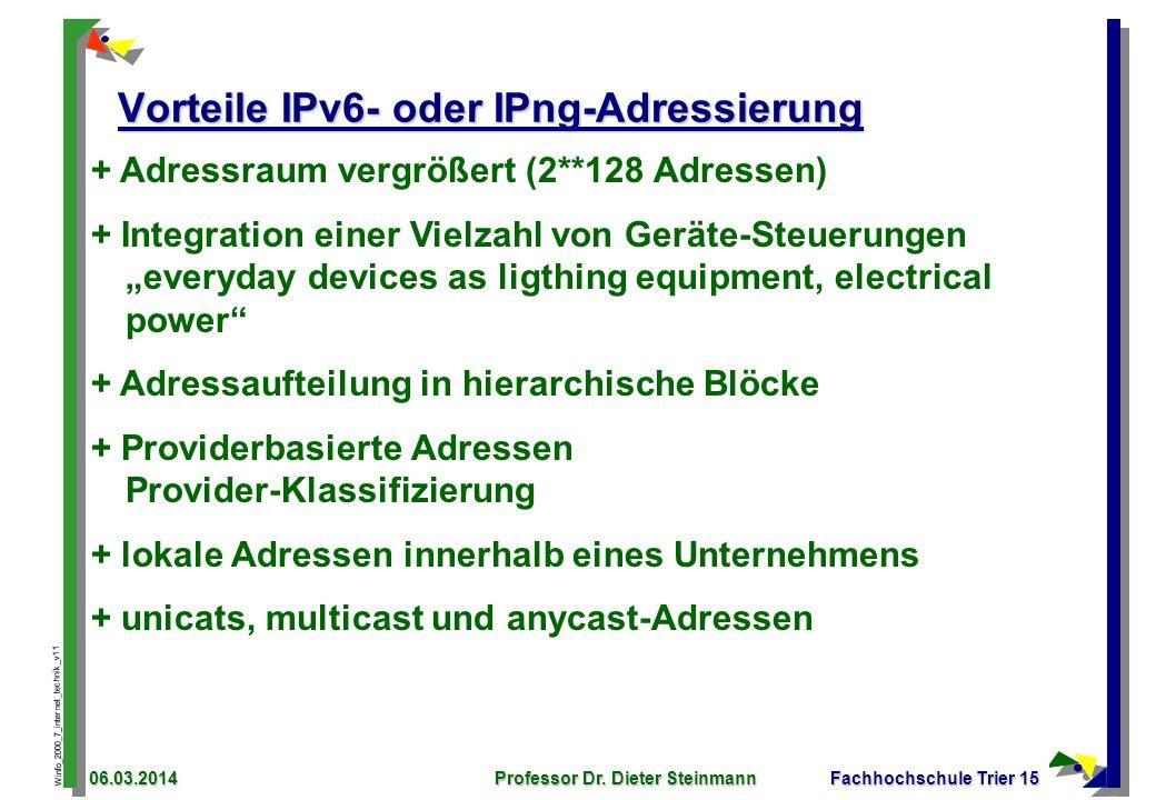 Vorteile IPv6- oder IPng-Adressierung