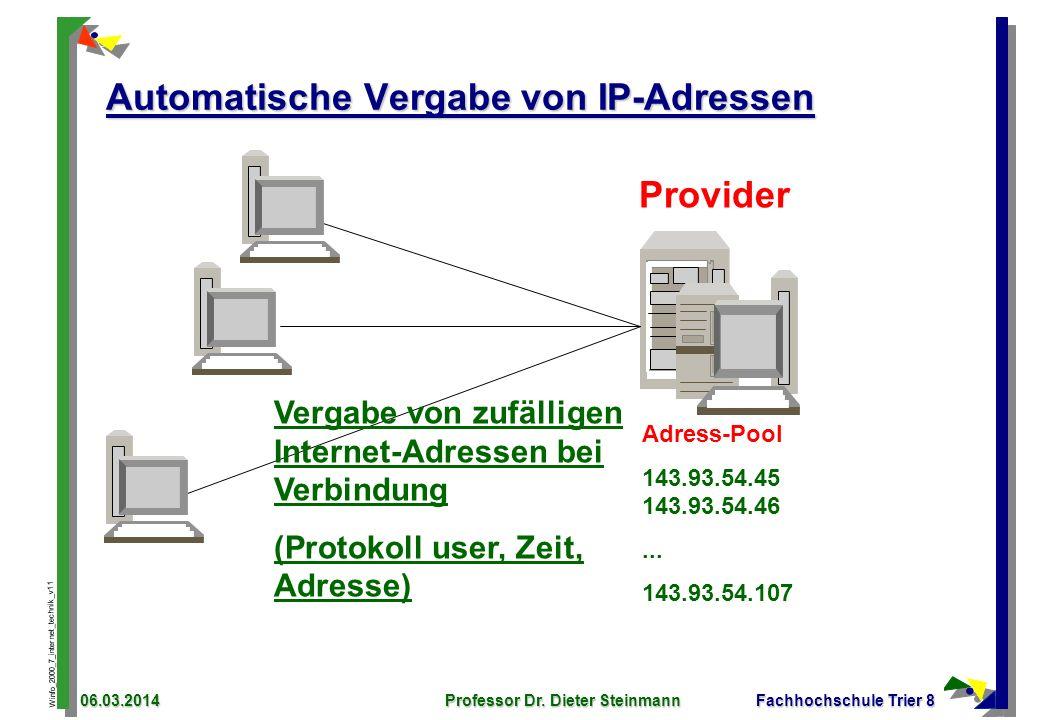 Automatische Vergabe von IP-Adressen
