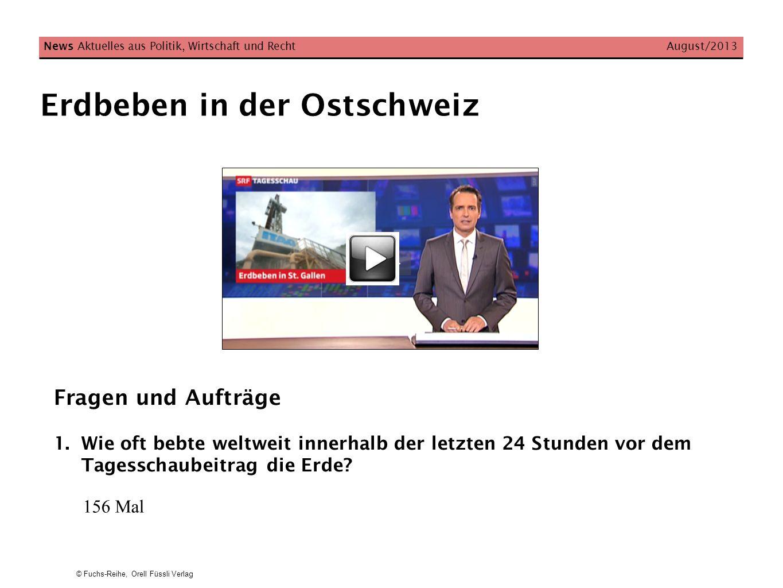 Erdbeben in der Ostschweiz