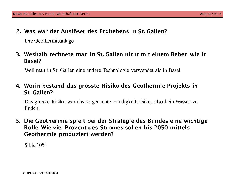 Was war der Auslöser des Erdbebens in St. Gallen