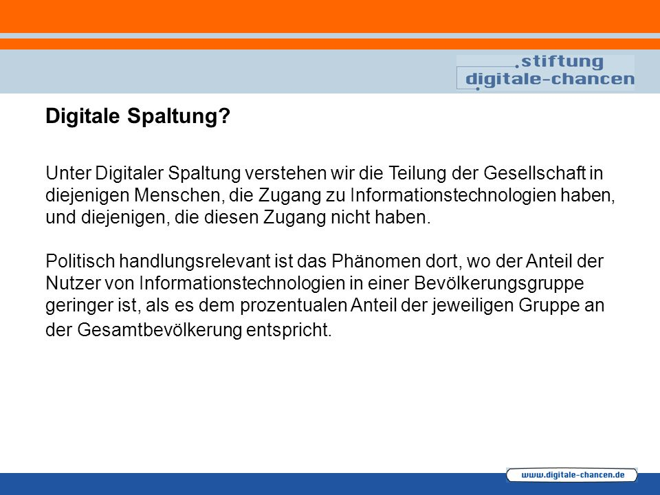 Digitale Spaltung