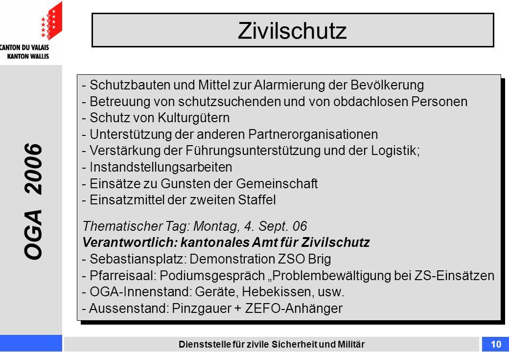 ZivilschutzSchutzbauten und Mittel zur Alarmierung der Bevölkerung. Betreuung von schutzsuchenden und von obdachlosen Personen.