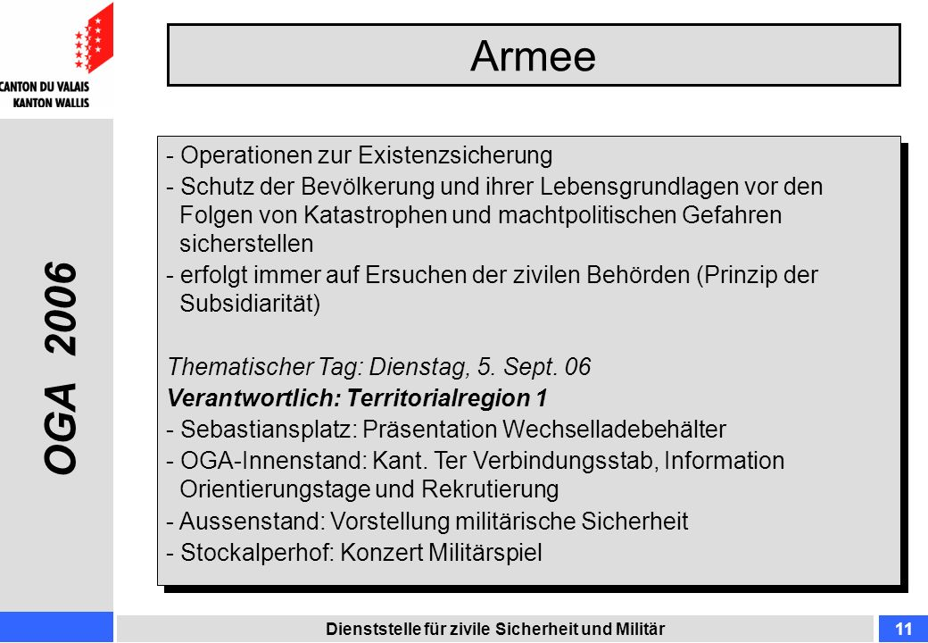 Armee OGA 2006 Operationen zur Existenzsicherung