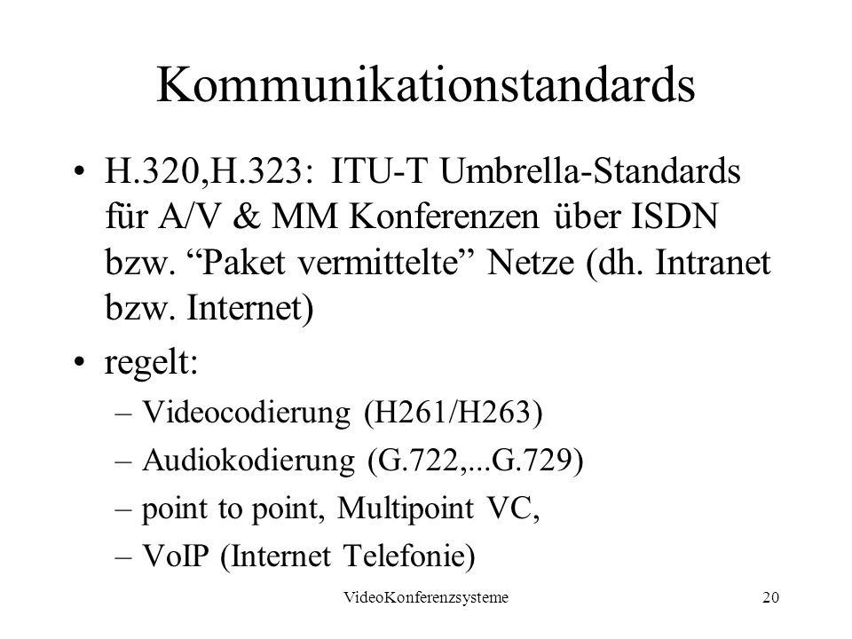 Kommunikationstandards