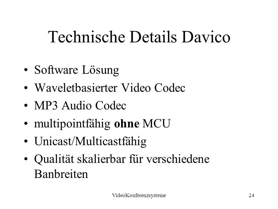 Technische Details Davico
