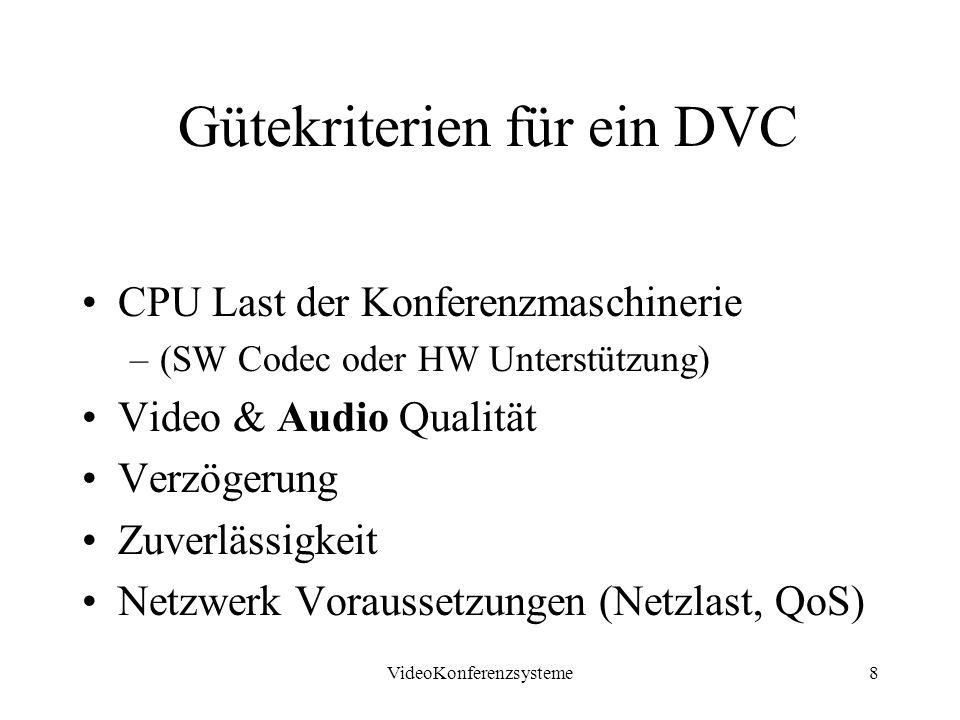 Gütekriterien für ein DVC