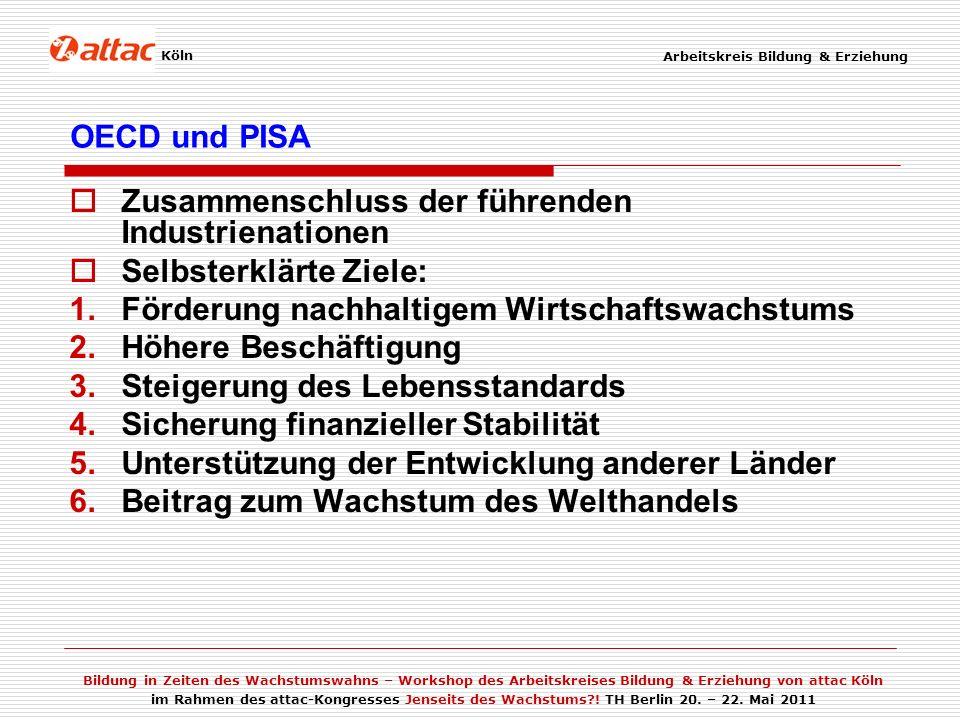 Zusammenschluss der führenden Industrienationen Selbsterklärte Ziele: