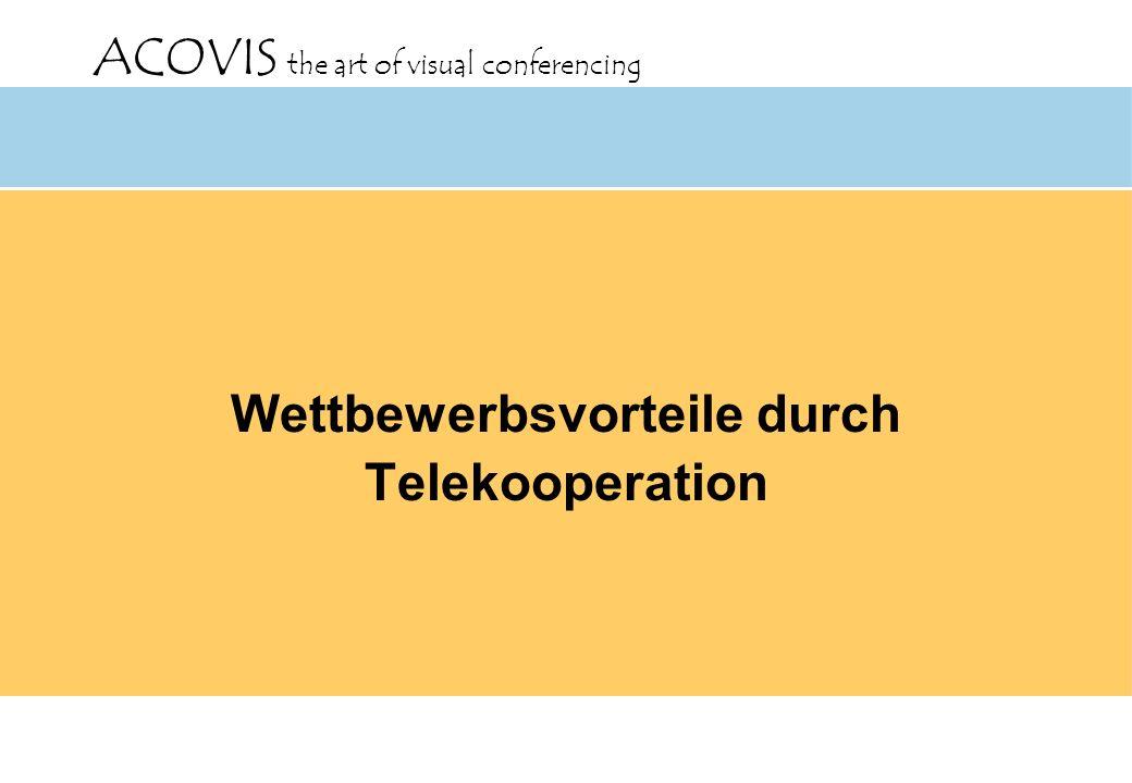 Wettbewerbsvorteile durch Telekooperation