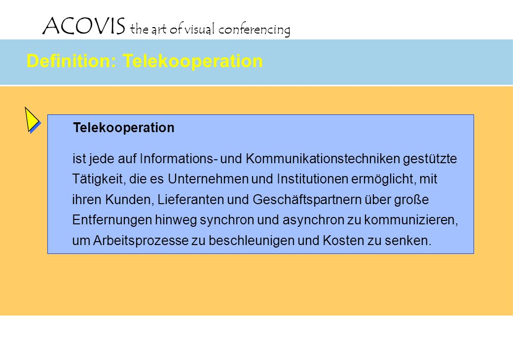 Definition: Telekooperation