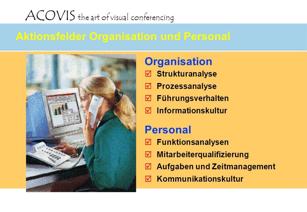 Aktionsfelder Organisation und Personal