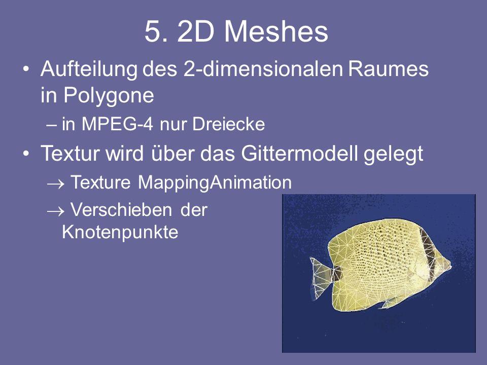 5. 2D Meshes Aufteilung des 2-dimensionalen Raumes in Polygone