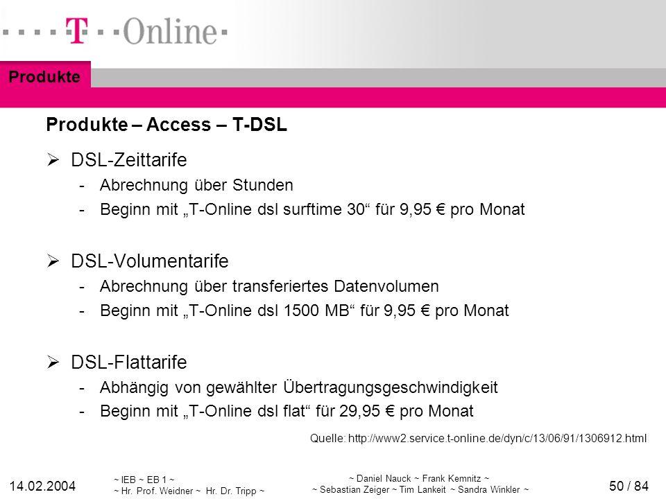 Produkte – Access – T-DSL
