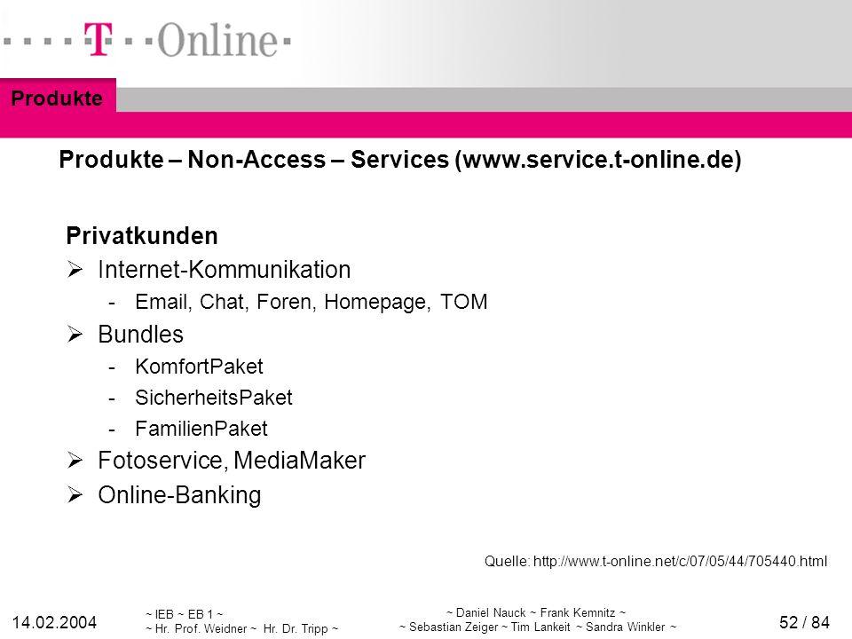 Produkte – Non-Access – Services (www.service.t-online.de)