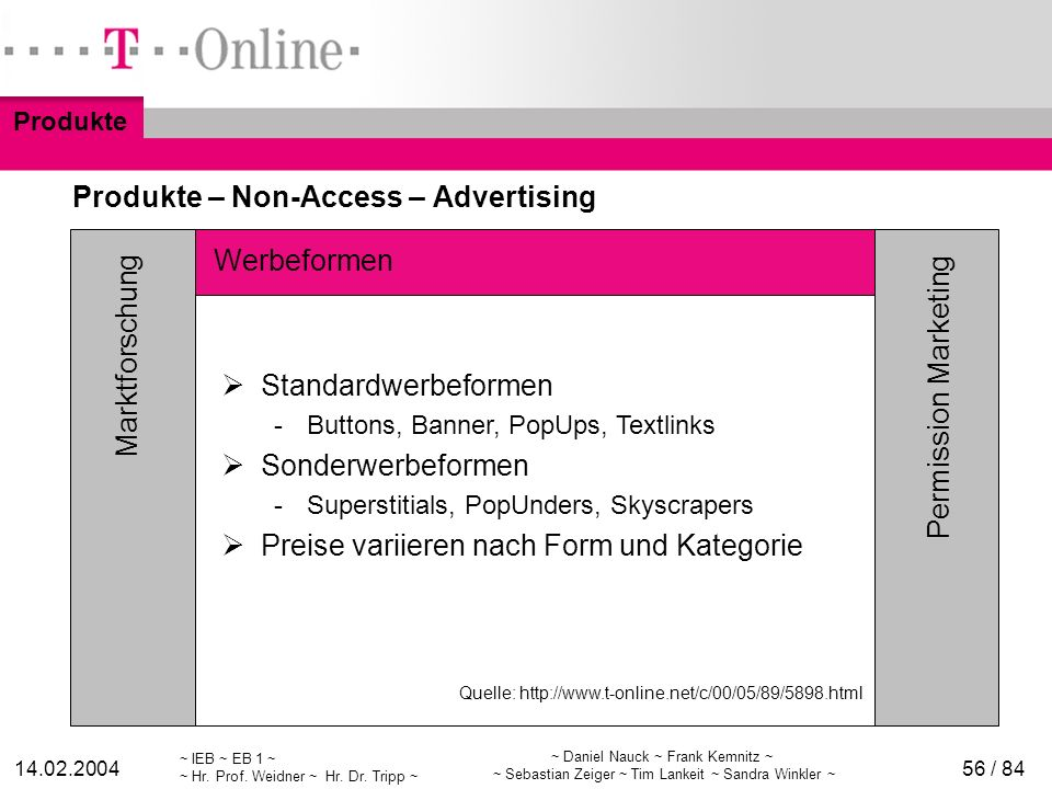 Produkte – Non-Access – Advertising