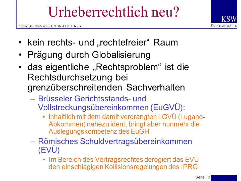 """Urheberrechtlich neu kein rechts- und """"rechtefreier Raum"""
