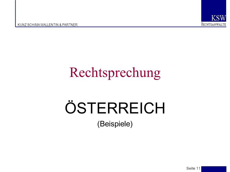 ÖSTERREICH (Beispiele)