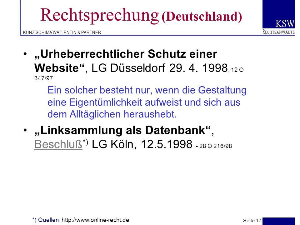 Rechtsprechung (Deutschland)
