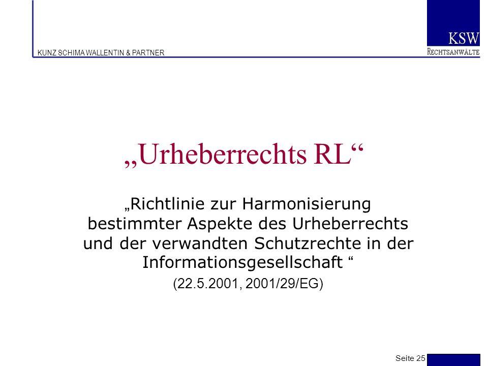 """Urheberrechts RL"
