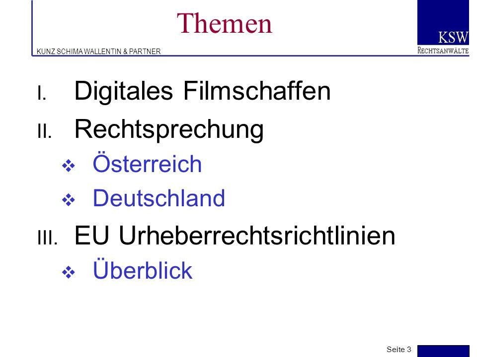 Themen Digitales Filmschaffen Rechtsprechung