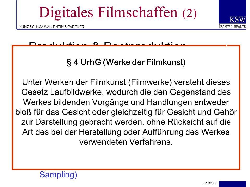 Digitales Filmschaffen (2)