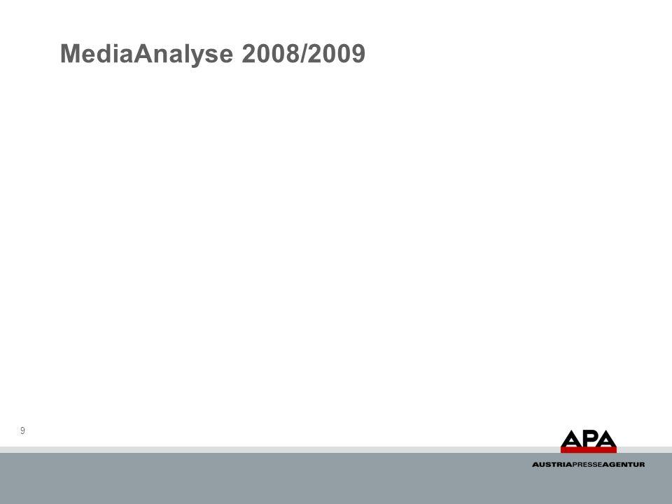 MediaAnalyse 2008/2009