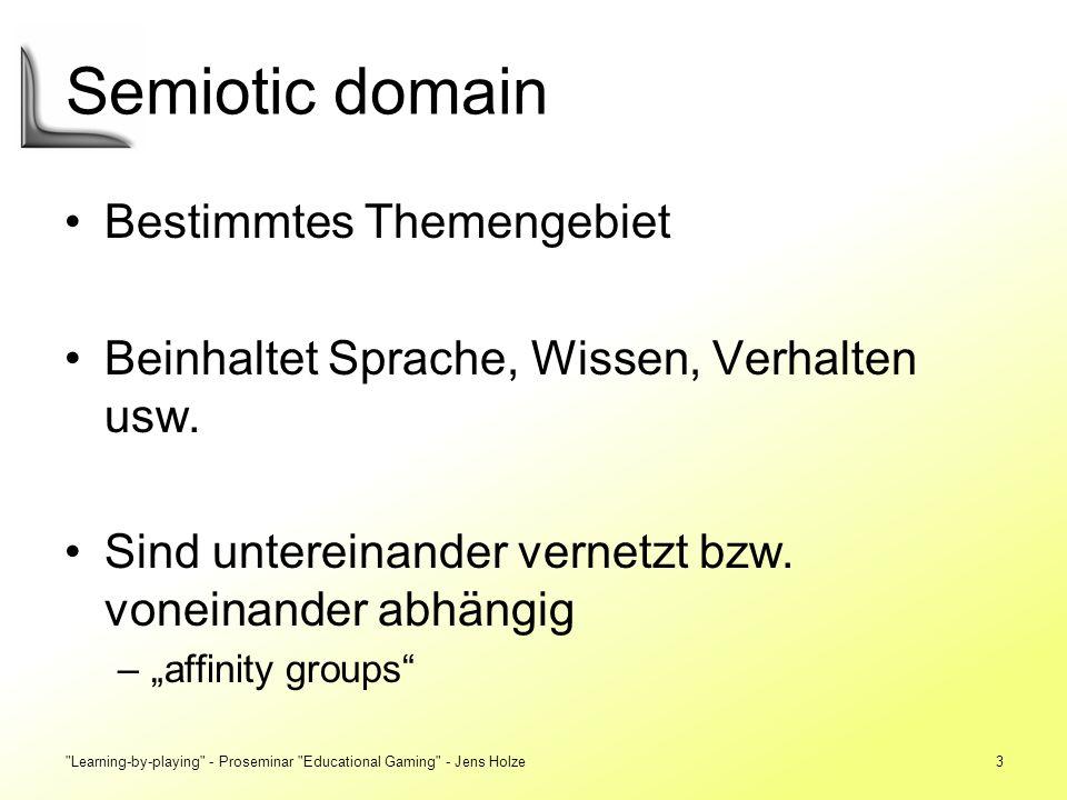 Semiotic domain Bestimmtes Themengebiet