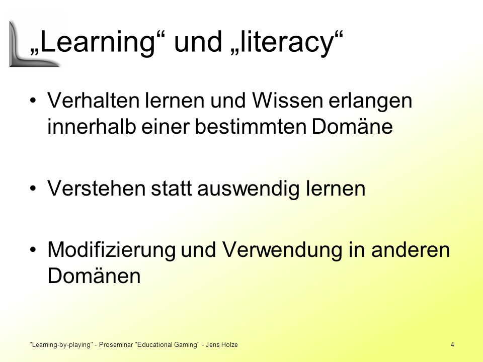 """Learning und ""literacy"