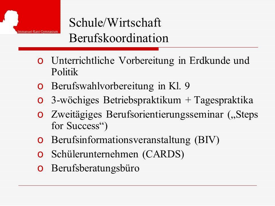 Schule/Wirtschaft Berufskoordination