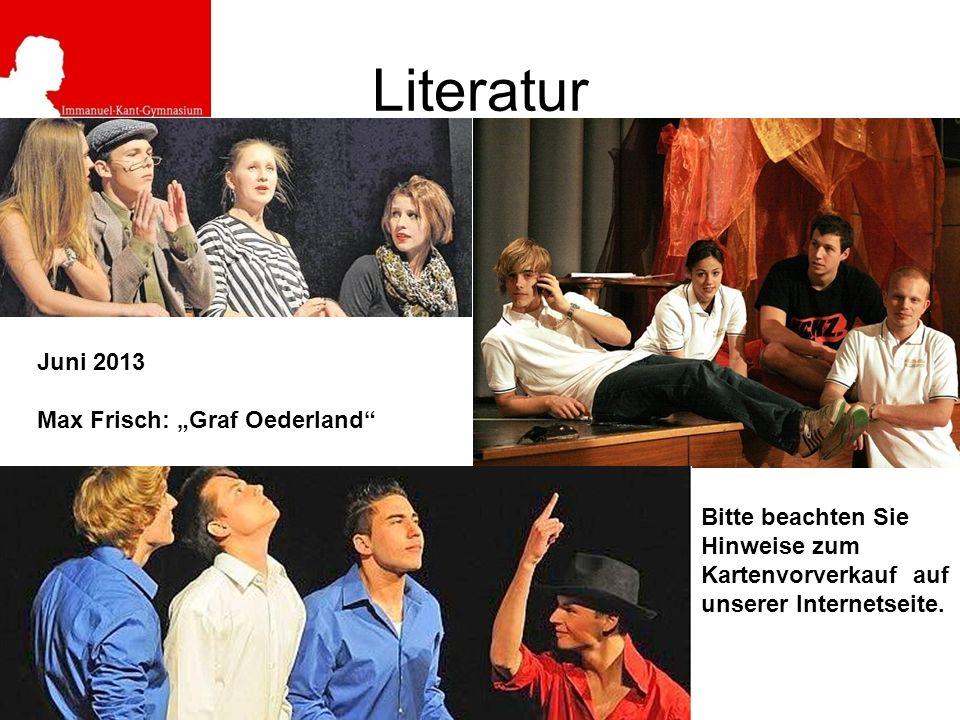 """Literatur Juni 2013 Max Frisch: """"Graf Oederland"""
