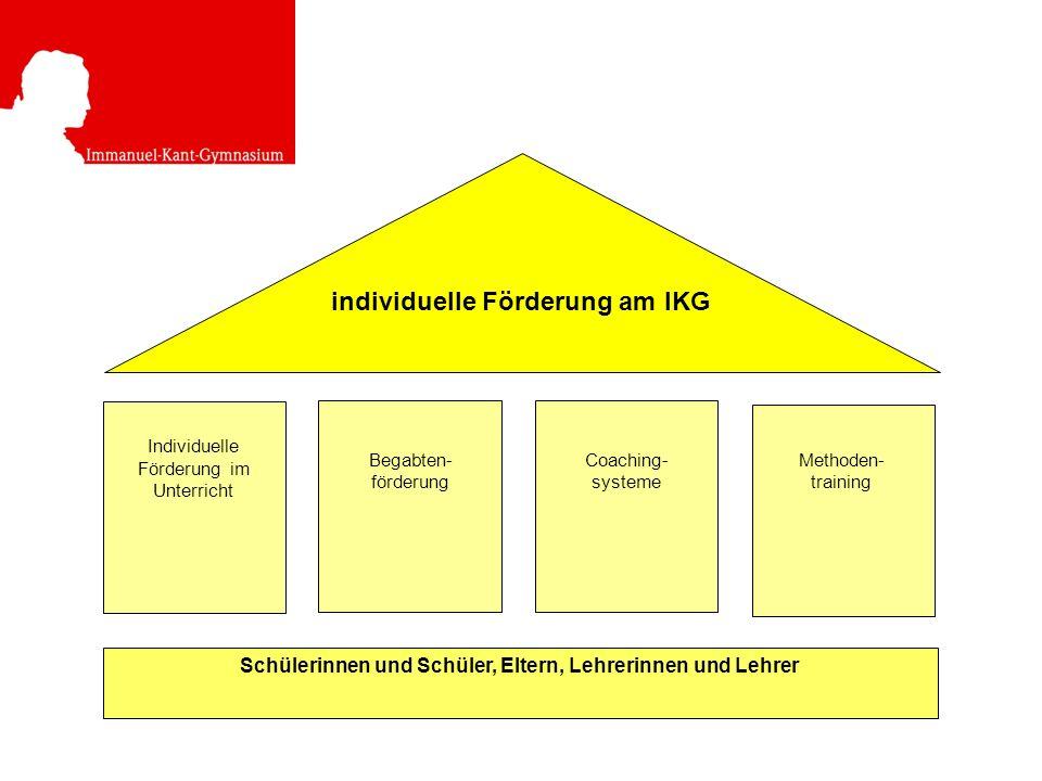 individuelle Förderung am IKG