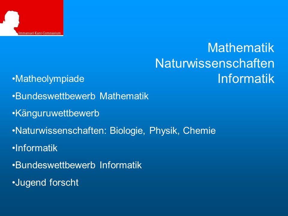 Mathematik Naturwissenschaften Informatik