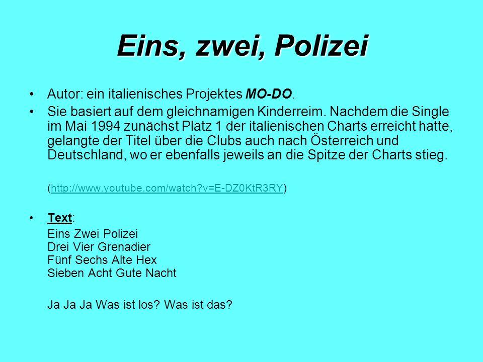 Eins, zwei, Polizei Autor: ein italienisches Projektes MO-DO.