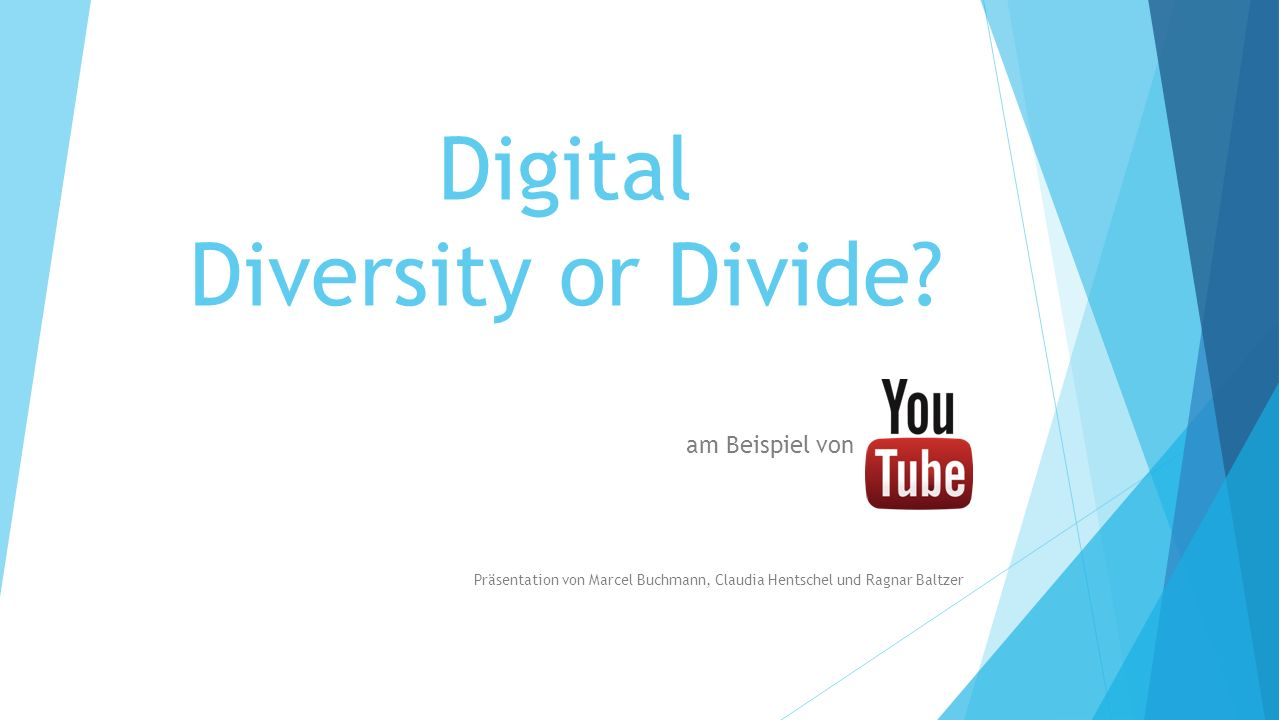 Digital Diversity or Divide