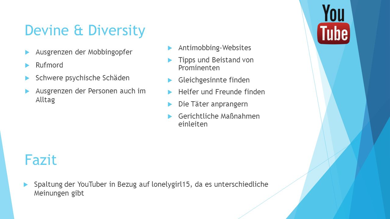 Devine & Diversity Fazit Antimobbing-Websites