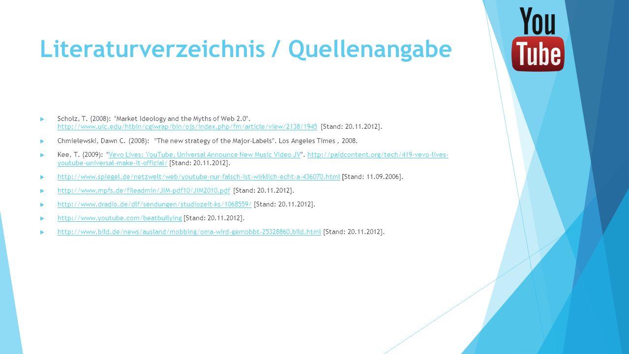 Literaturverzeichnis / Quellenangabe