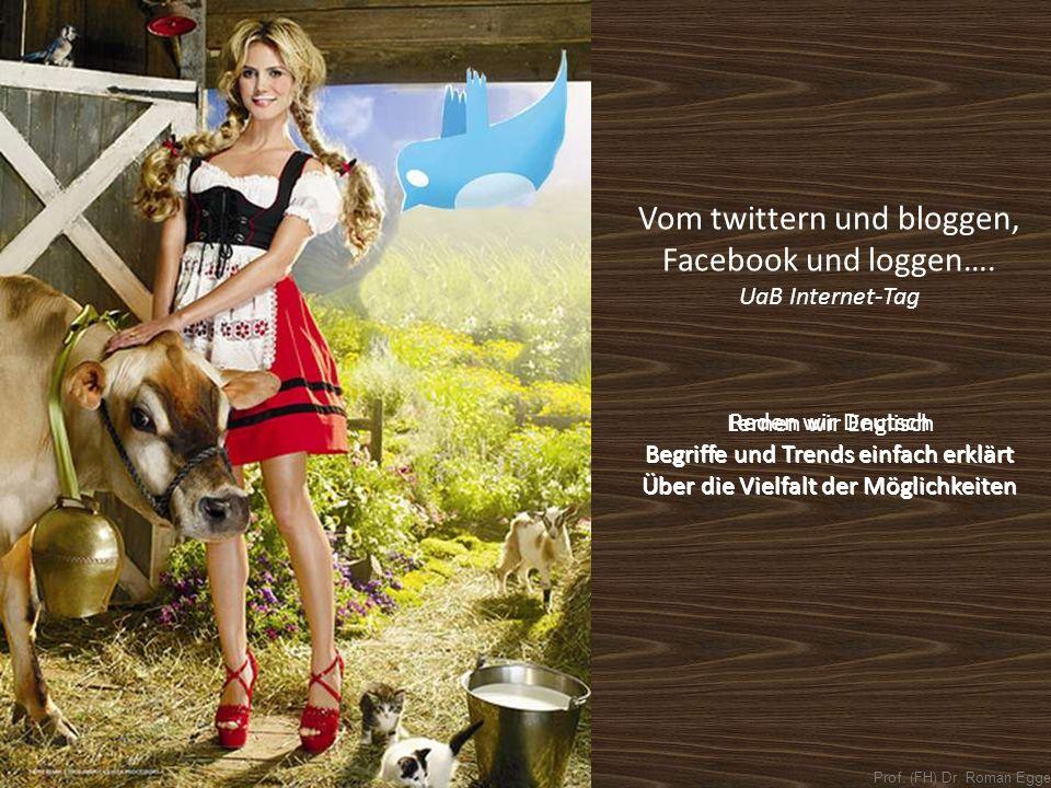 Vom twittern und bloggen, Facebook und loggen….