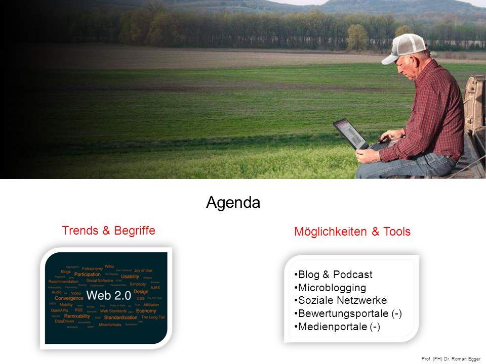 Agenda Trends & Begriffe Möglichkeiten & Tools Blog & Podcast