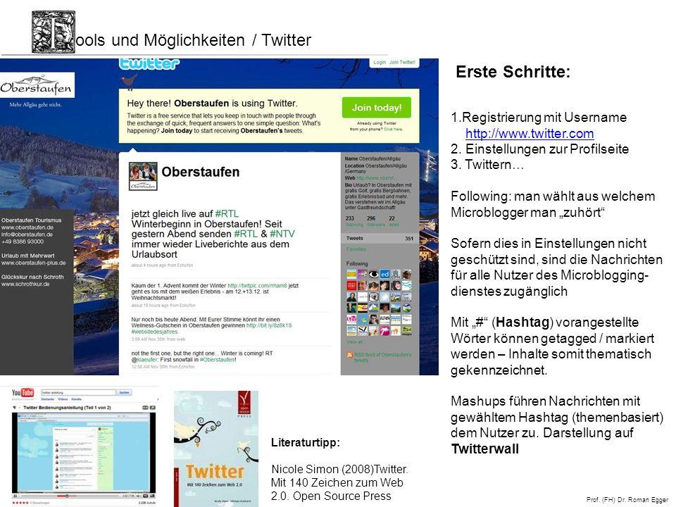 ools und Möglichkeiten / Twitter