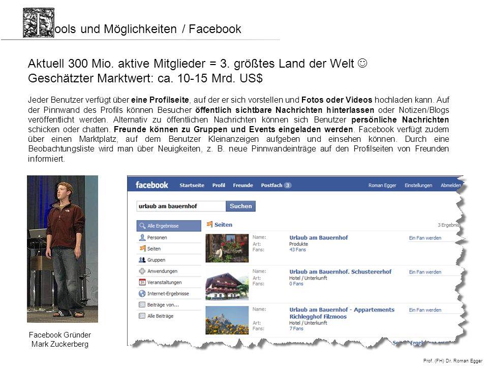 ools und Möglichkeiten / Facebook