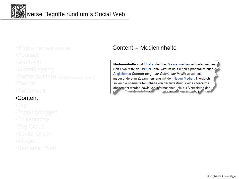 iverse Begriffe rund um´s Social Web