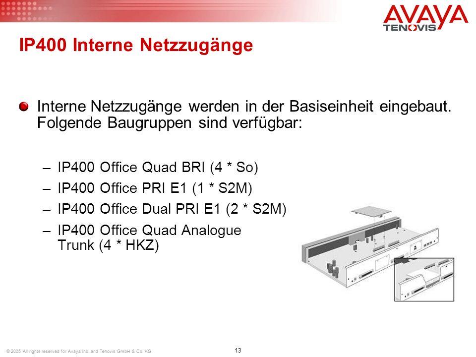 IP400 Interne Netzzugänge