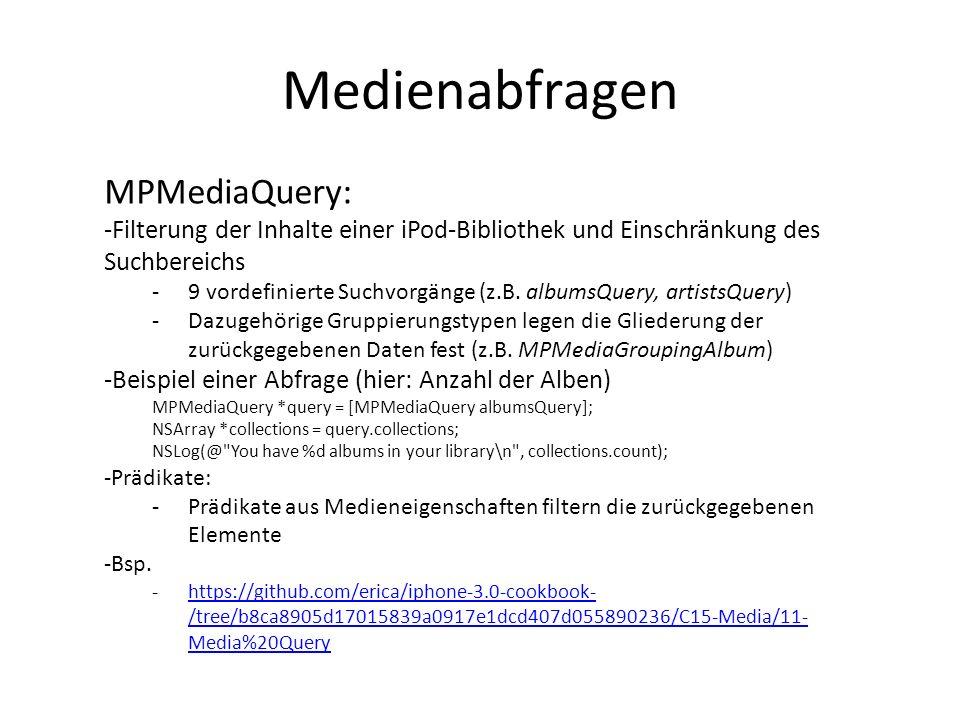 Medienabfragen MPMediaQuery: