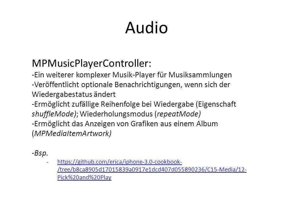 Audio MPMusicPlayerController: