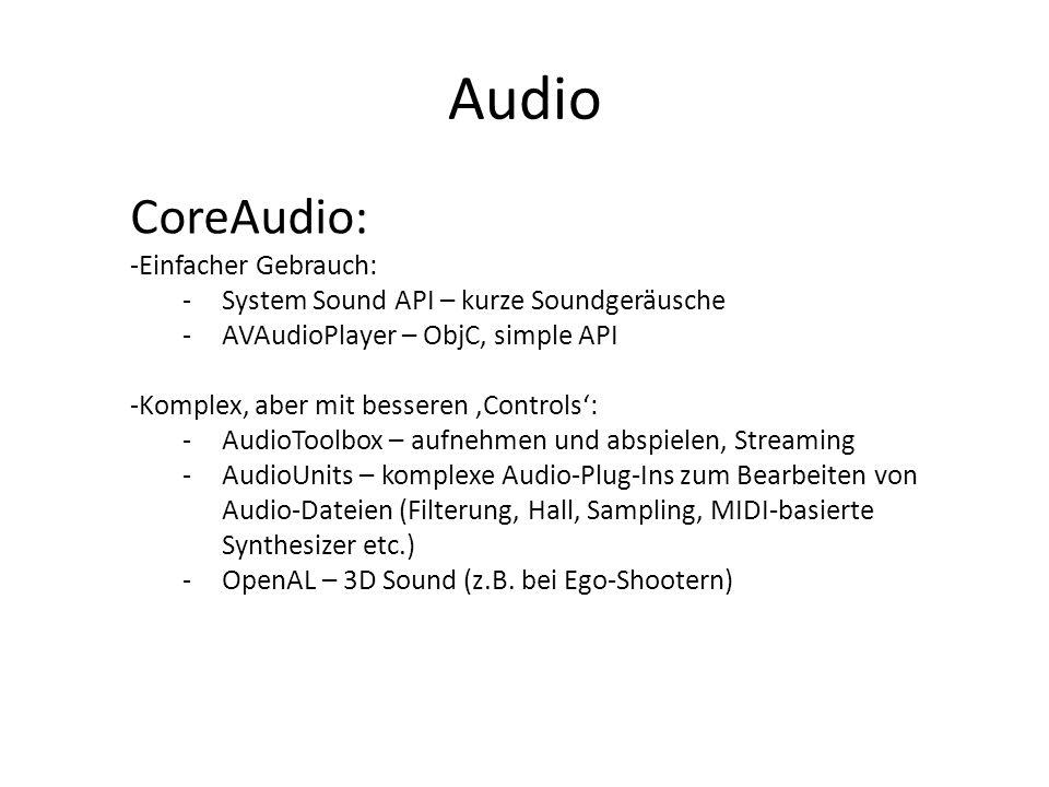 Audio CoreAudio: Einfacher Gebrauch: