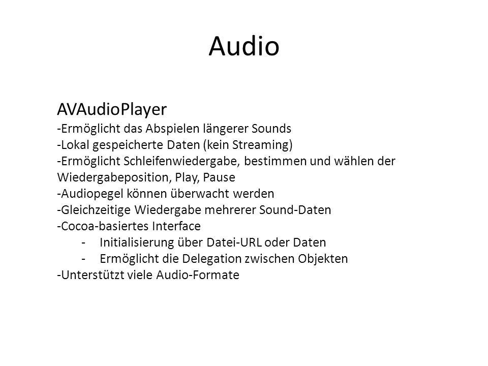 Audio AVAudioPlayer Ermöglicht das Abspielen längerer Sounds