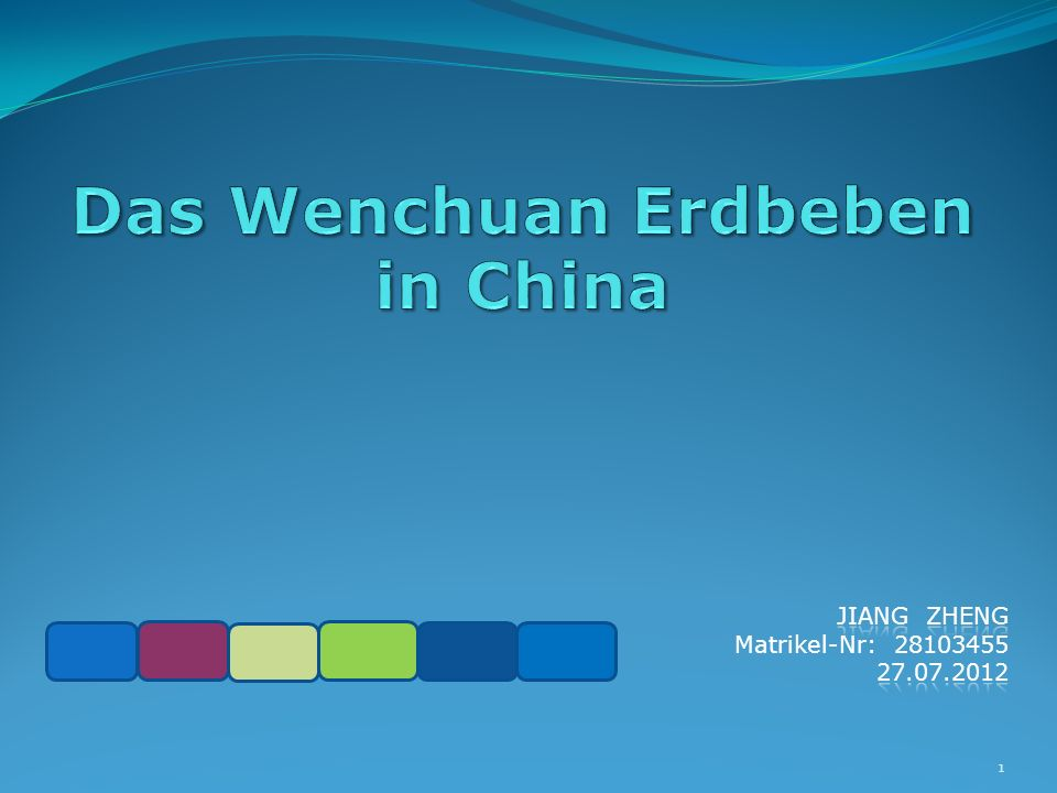 Das Wenchuan Erdbeben in China