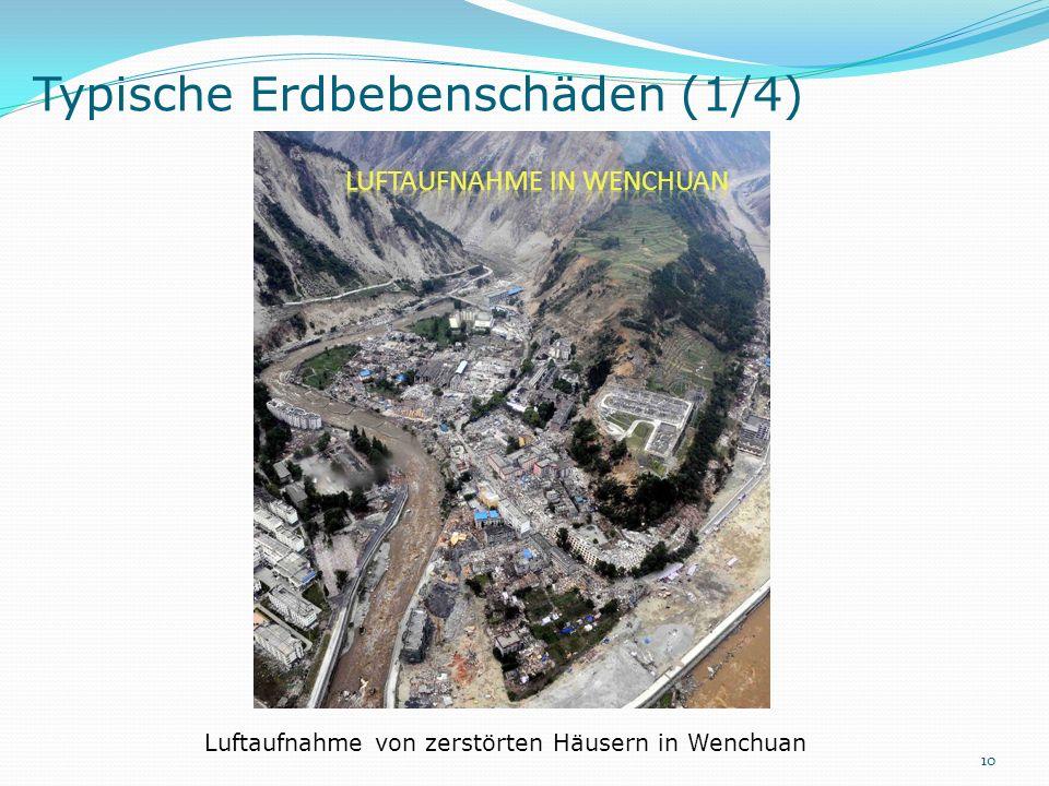 Typische Erdbebenschäden (1/4)
