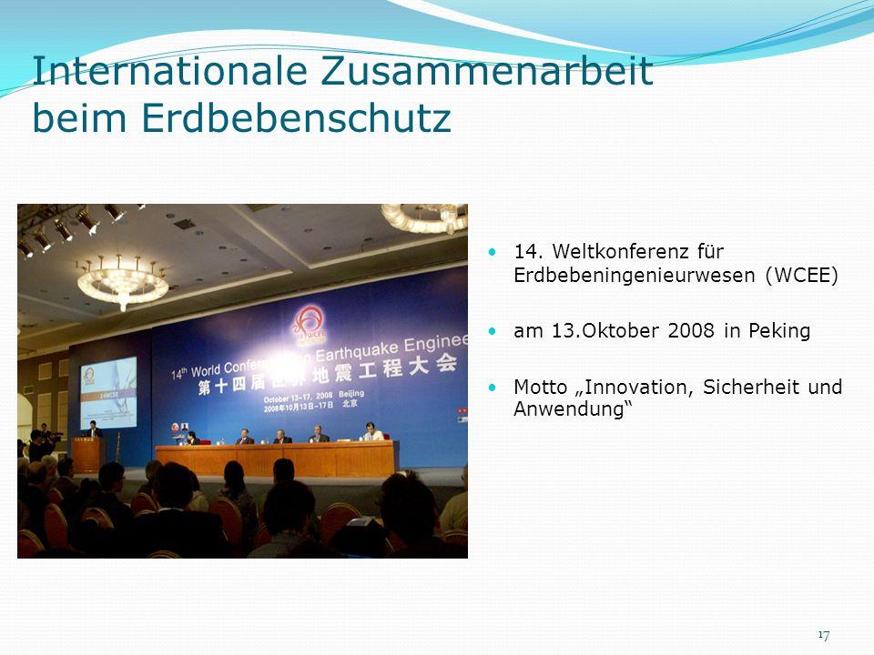 Internationale Zusammenarbeit beim Erdbebenschutz